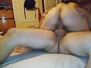 My wife's big ass bouncing on my cock