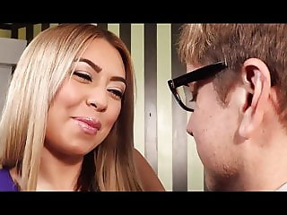 Slutty petite milf whore gets fisting by her guy