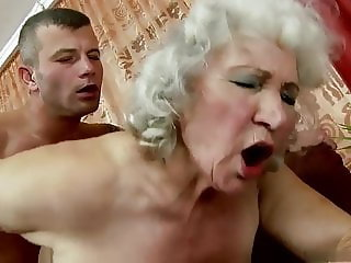 Grandma Norma sucks and fucks her granddaughter's fiance