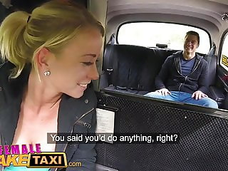 Female Fake Taxi Hot blonde sucks and fucks Czech cock
