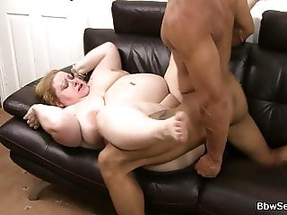 Blonde BBW gets her pussy licked and fucked
