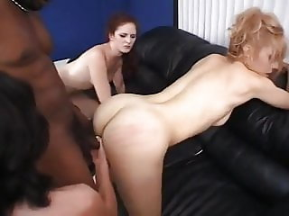 Black cock dominates 3 white women with rough sex  (n-r)
