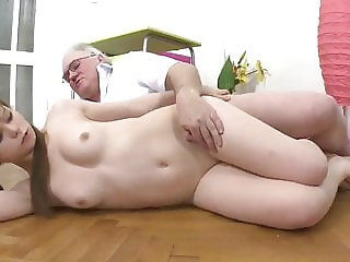 Old Fat and Rich Man Fucks Petite Teen with Small Tits
