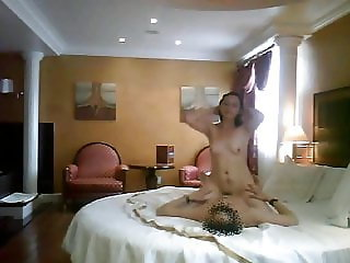 Liliana Irais skinny bitch riding and enjoying the cock