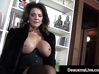 Hosed Busty Cougar Deauxma Foot Fucks A Young Hard Stud!
