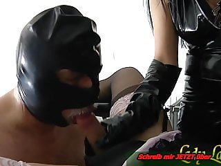 Slave must do blowjob for german fetish lady -first  time bi