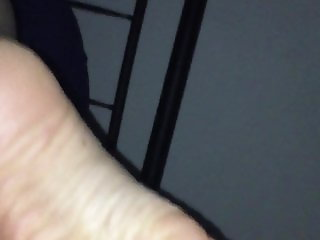 Milf feet and pussy play