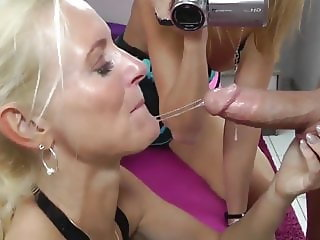 Experienced MILF Teaches Young Bitch How To Fuck Her Boy