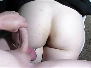 PAWG Lexi Big Ass Jerk Off Cum On Her Booty Cumshot Slut