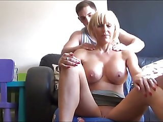 Lucky College Guy First Sex with Busty Delightful MILF