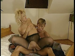 fabulous blonde in action