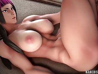 Big tits sex dolls enjoy hard pussy drilling time