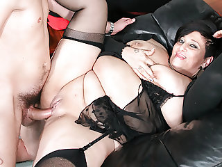 LETSDOEIT - Italian BBW-Mature Anal Banged by Young Guy