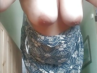 Big Tits Wofe in strapless dress gets fucked !
