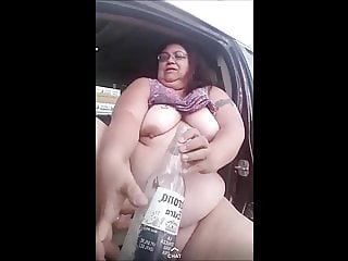 Loves2show Fucking Another Dirty Bottle in Public Part 3