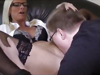 Naughty Busty MILF Let Young and Fat Boy Cum in Her Pussy