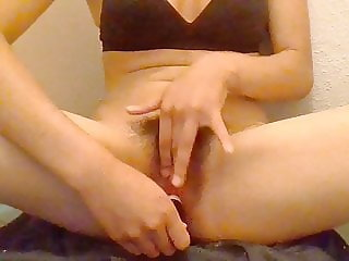 Fucks her Tight Pussy with Two Sharpies