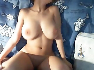 Innocent Amateur Teen with Big Hanging Tits Pleasing Tourist