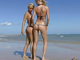 Two blond Girls earning their vication