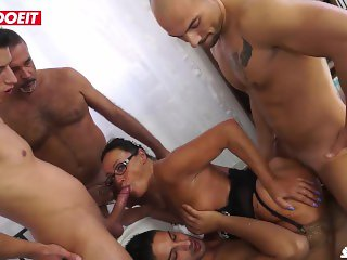 LETSDOEIT - Italian Mature Wife Gets Shared With Friends