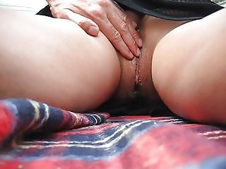 wife getting apussy massage in camp