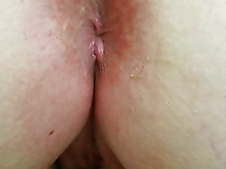 babe plays with her wet hairy pussy after i licked her ass