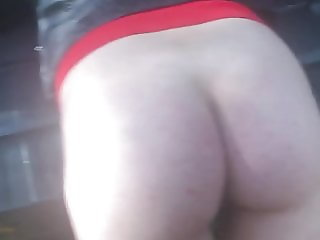 Russian spanking outdoor