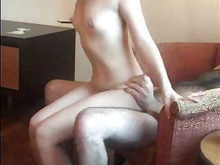 My Asian girlfriend riding me and cumming