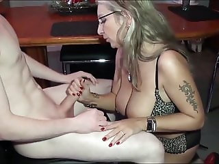 Delicious Cougar MILF Seduces and Fucks Lucky Teen Boy