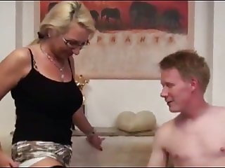 Redhead College Boy With Big Cock Cums Inside MILF Ass