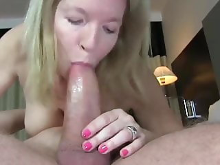 Delicious Mature MILF in Lingerie Loves Young Big Cock