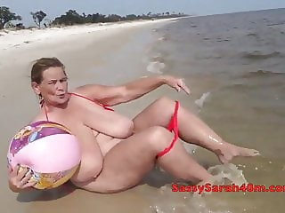Big inflatables at the seaside