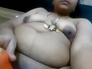 Homely aunty fingering