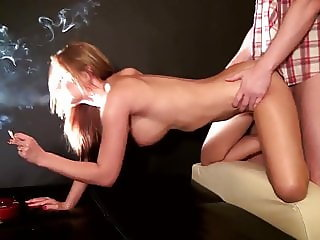 Smoking hottest doggy sex