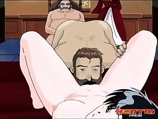 Hentai Pros - Anime princess gets fucked in front of Stepmom and dad
