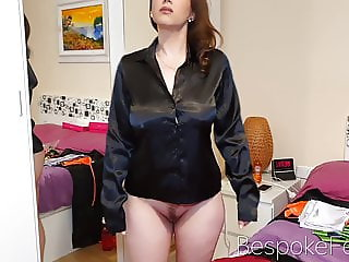 Satin haul chubby cute girl with big tits and ass