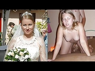 bride wedding dress before during after compilation wife pov