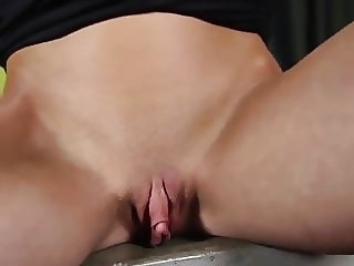 Hot girl with a huge clit
