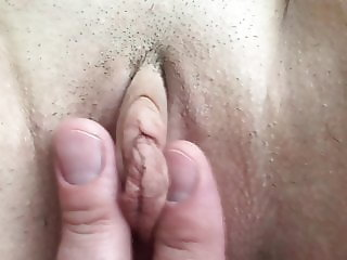 Homemade MILF Finger Cock Pussy Creampie Big Clit Labia Pink