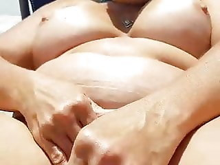 Chubby mature wife playing