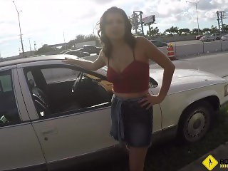Roadside - Samantha uses sex to get out of paying