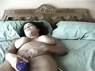 Michelle Bickers, big fitted Indian whore dildo fucked!