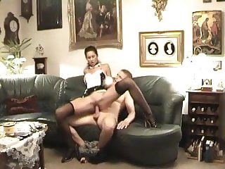 Step Mom Forcing Daughter and Son to Fuck
