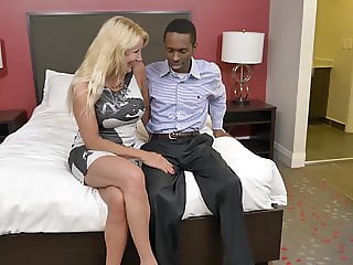 Mature mother try black cock