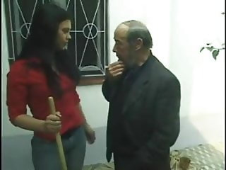 Old man gets lucky with hot young woman