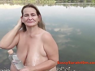 Sarah gets them out at the Lakeside