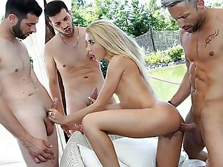 A Hot Foursome, Three Studs and a Blonde Bombshell