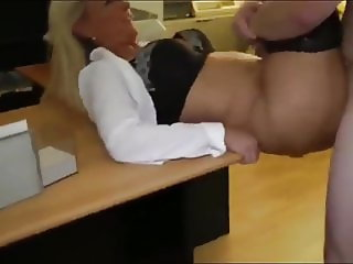 fat boy with big cock cums in  his first busty milf