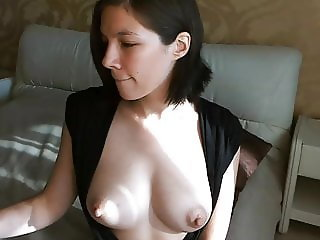 Shows pussy then jiggles her tits