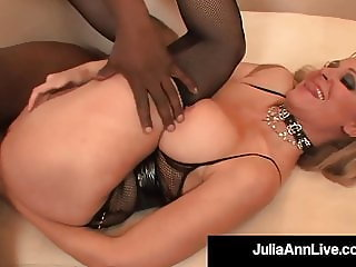 Busty Cougar Julia Ann Gets Her Butt Violated By 4 BBCs!